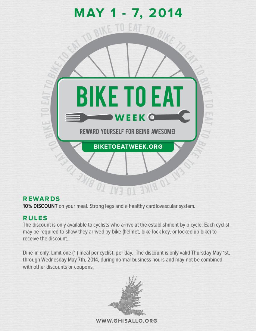 Bike-To-Eat Week 2014 Poster