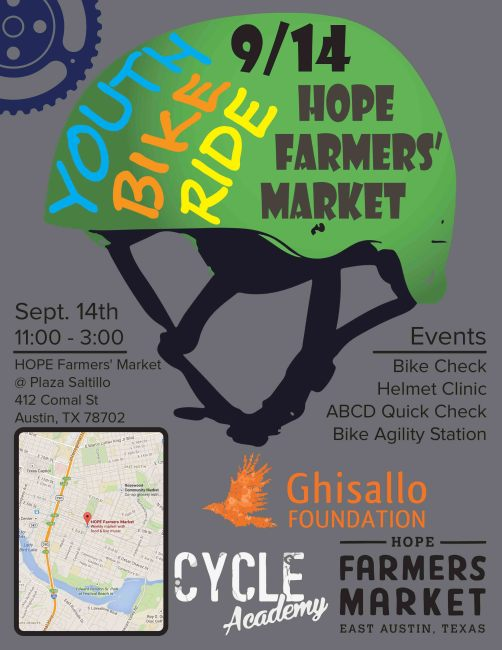 Youth Bike Ride - Hope Sept 14